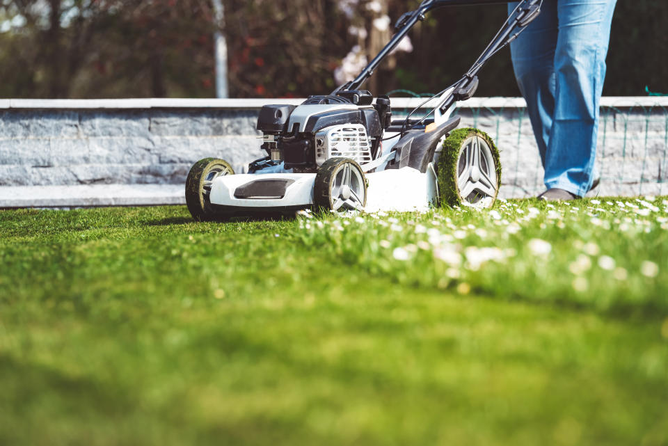 Now is the perfect time to mow the lawn [Photo: Getty]