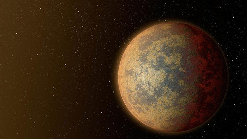 This artist's rendition released by NASA on July 30, 2015 shows one possible appearance for the planet HD 219134b (AFP Photo/)