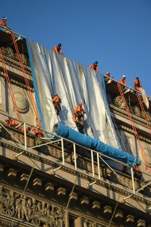 Christo had dreamed of the project since living nearby in the 1960s (AFP/Lucas BARIOULET)