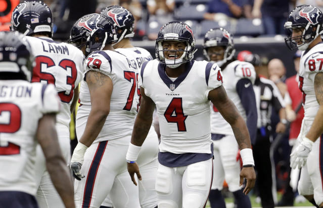 Deshaun Watson (4) will make his first career start this week. (AP)
