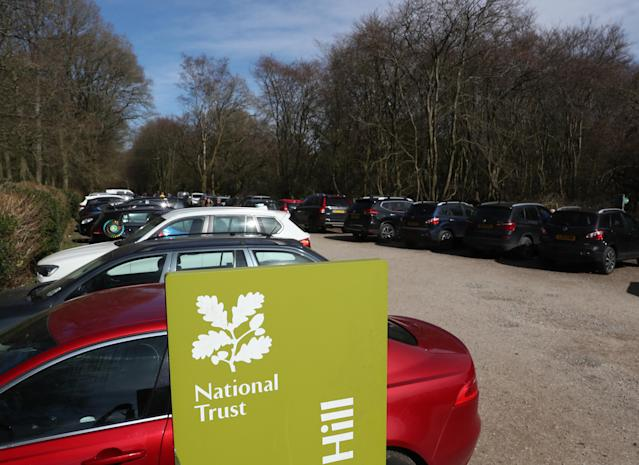 The National Trust has closed its parks after thousands of visitors descended upon its properties on Saturday. (Catherine Ivill/Getty Images)