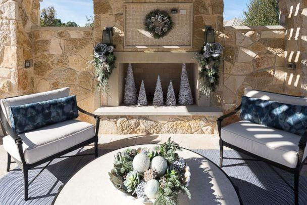 PHOTO: An outdoor patio is decorated for Christmas by Baker Design Group. (Baker Design Group)