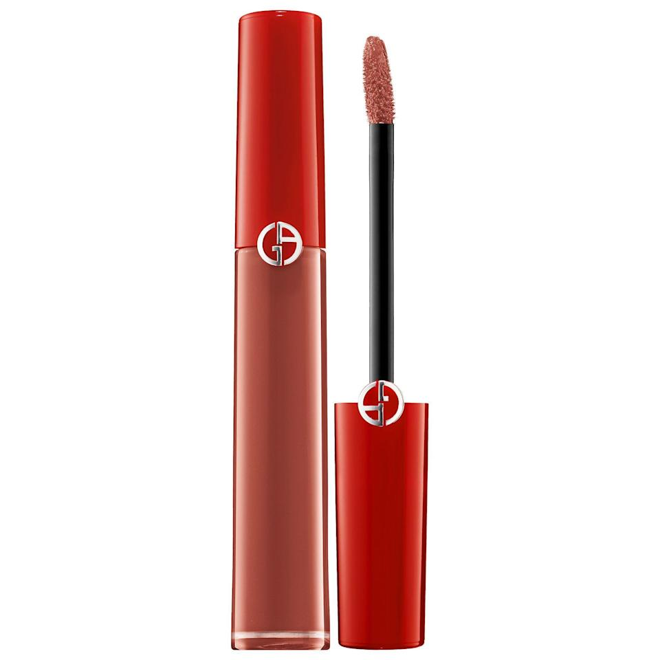 """<p><strong>Armani Beauty</strong></p><p>sephora.com</p><p><strong>$38.00</strong></p><p><a href=""""https://go.redirectingat.com?id=74968X1596630&url=https%3A%2F%2Fwww.sephora.com%2Fproduct%2Flip-maestro-liquid-lipstick-P393411&sref=https%3A%2F%2Fwww.womenshealthmag.com%2Fbeauty%2Fg32981827%2Fbest-matte-lipstick%2F"""" rel=""""nofollow noopener"""" target=""""_blank"""" data-ylk=""""slk:Shop Now"""" class=""""link rapid-noclick-resp"""">Shop Now</a></p><p>This Armani Beauty liquid lipstick has a gorgeous satin slip to it that feels extra cozy on your pout. I wore it once for a night out and it didn't budge from 6pm until 1am–and I didn't reapply! </p>"""