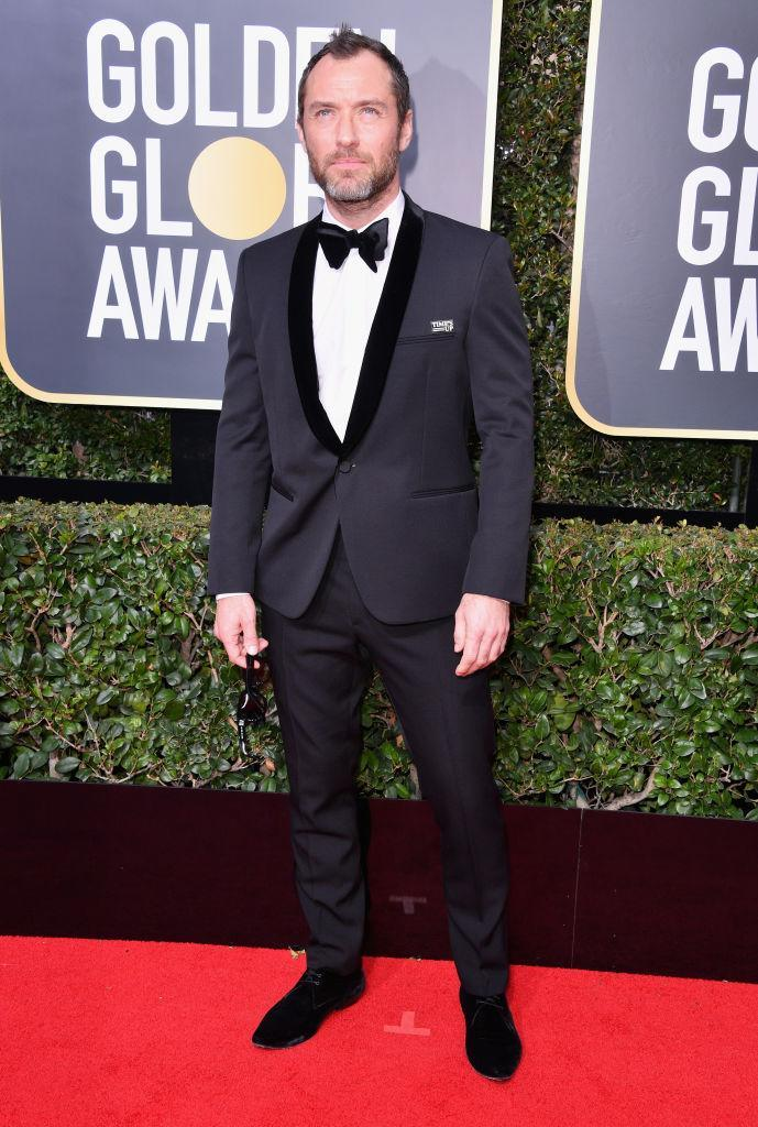 <p>Jude Law, a nominee for Best Actor in a TV Movie/Limited Series for <em>The Young Pope</em>, attends the 75th Annual Golden Globe Awards at the Beverly Hilton Hotel in Beverly Hills, Calif., on Jan. 7, 2018. (Photo: Steve Granitz/WireImage) </p>
