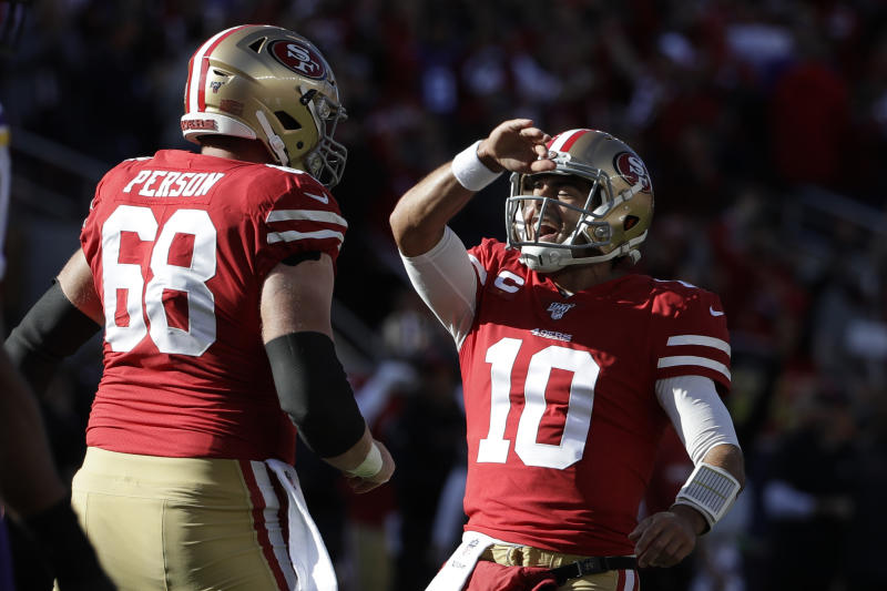 No, Fox 13, the 49ers did not lose on Saturday. (AP Photo/Marcio Jose Sanchez)