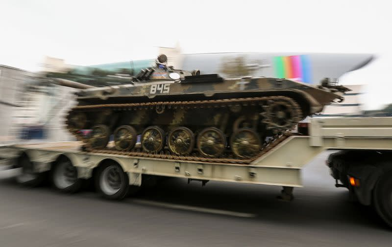 FILE PHOTO: Parade to mark the victory on Nagorno-Karabakh conflict in Baku