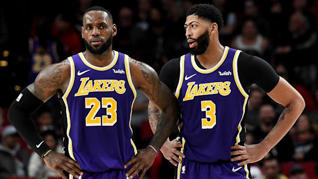Anthony Davis is close to recovering from an illness but LeBron James wants to keep his in-form team-mate under the weather.