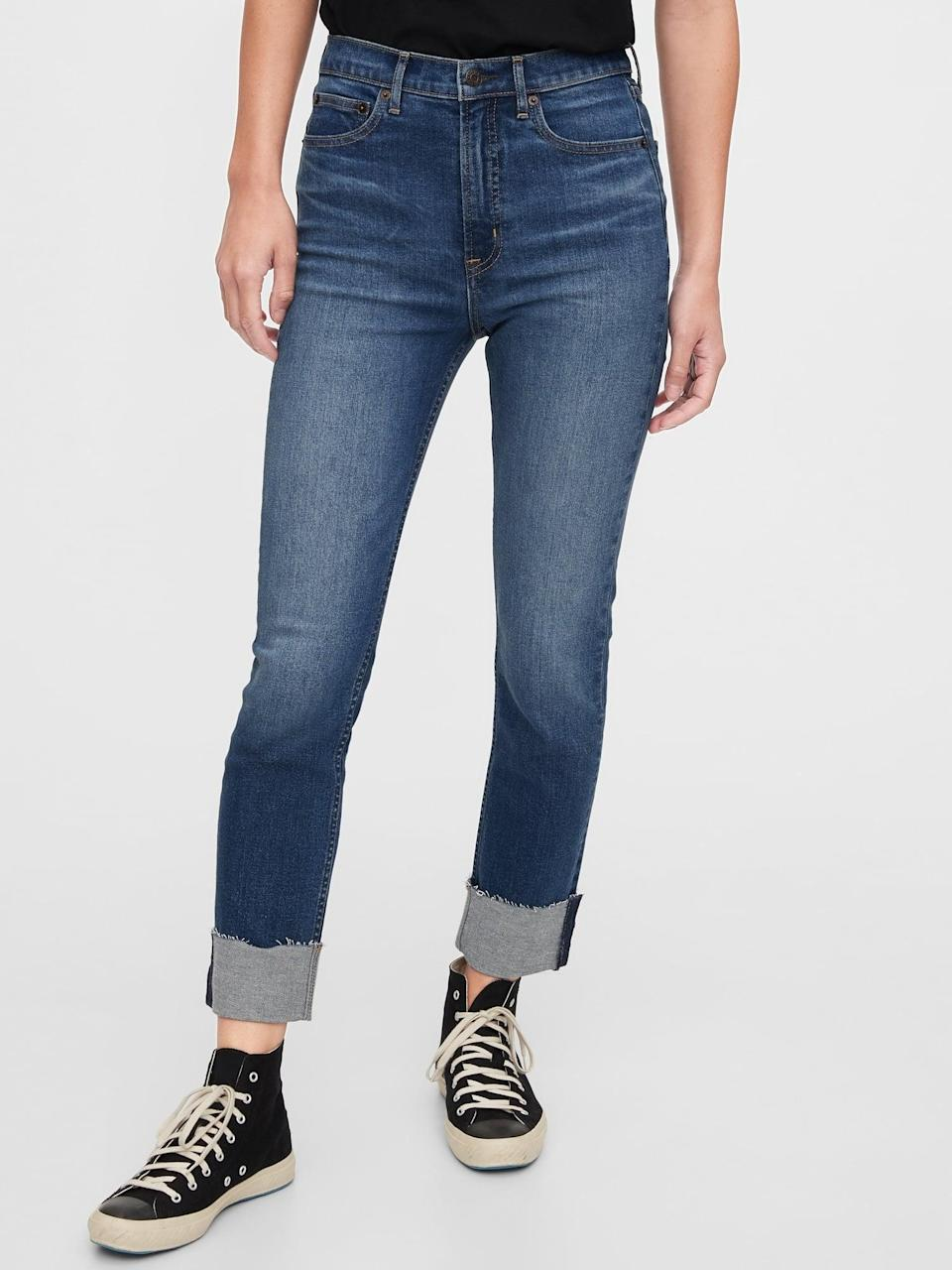 <p>These <span>High Rise Cigarette Jeans</span> ($55, originally $80) will support all your moves.</p>