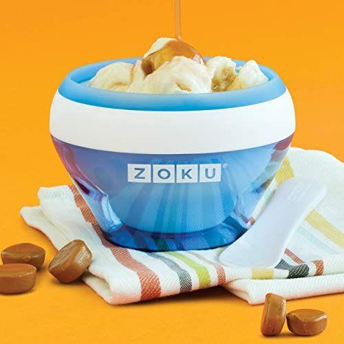 """<p><strong>Zoku</strong></p><p>amazon.com</p><p><strong>$27.99</strong></p><p><a href=""""https://www.amazon.com/dp/B00LGRTH14?tag=syn-yahoo-20&ascsubtag=%5Bartid%7C2164.g.36080315%5Bsrc%7Cyahoo-us"""" rel=""""nofollow noopener"""" target=""""_blank"""" data-ylk=""""slk:Shop Now"""" class=""""link rapid-noclick-resp"""">Shop Now</a></p><p>This is probably the best ice cream maker to get if you're solo. It's easy to use, compact, and makes soft serve ice cream in as little as 10 minutes and hard ice cream in 20 minutes! </p>"""