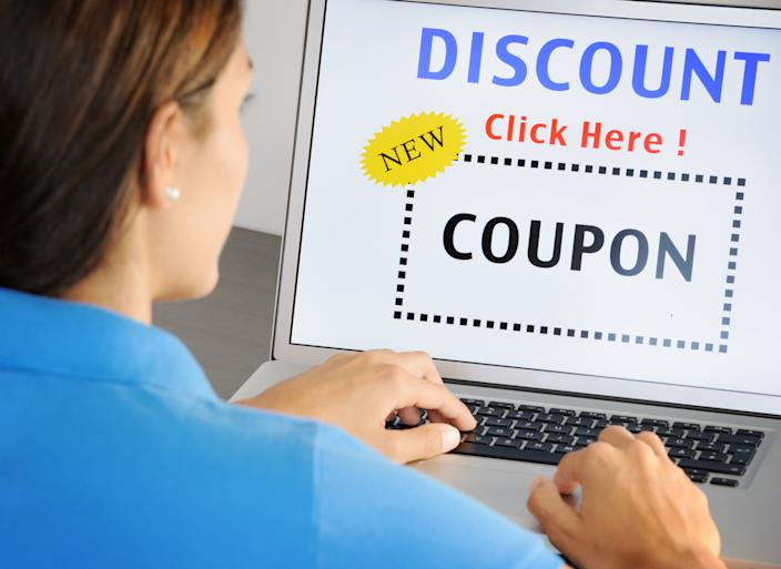Don't click on that coupon link. It could be a scam. (Photo: Getty)