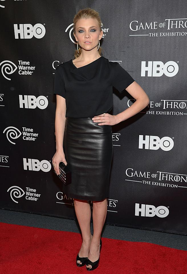 "NEW YORK, NY - MARCH 27:  Actress Natalie Dormer attends ""Game Of Thrones"" The Exhibition New York Opening at 3 West 57th Avenue on March 27, 2013 in New York City.  (Photo by Mike Coppola/Getty Images)"