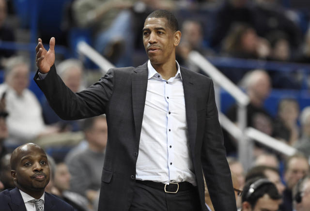 Former UConn head coach Kevin Ollie was hit with a three-year show-cause penalty by the NCAA. (AP Photo/Jessica Hill)