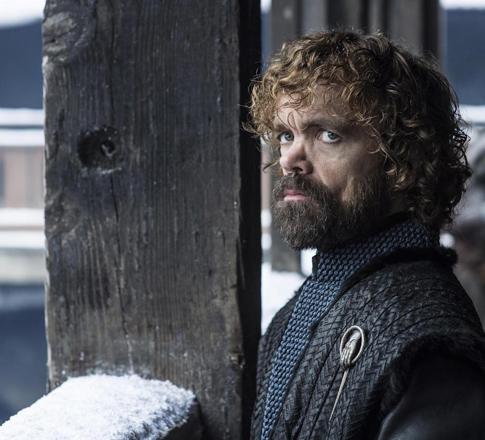 "<p>Back in Westeros after a lengthy absence, Tyrion signals his allegiance to Daenerys with his ""Hand of the Queen"" sigil. But there's still a chance that his Lannister family ties will lead to a late-inning betrayal. </p>"
