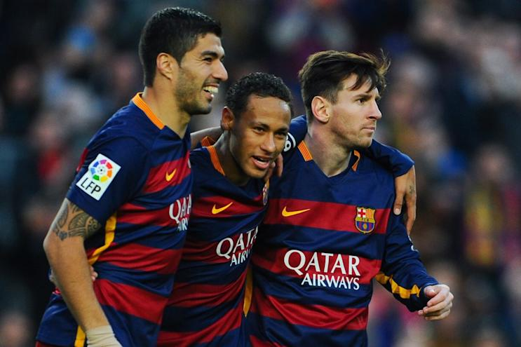 Playing with Luis Suarez and Lionel Messi has been a dream for Neymar. But age is creeping up on them fast. (Getty)