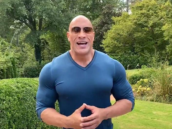 Dwayne Johnson endorses Democratic candidates Joe Biden and Kamala Harris in the forthcoming election (Dwayne Johnson)