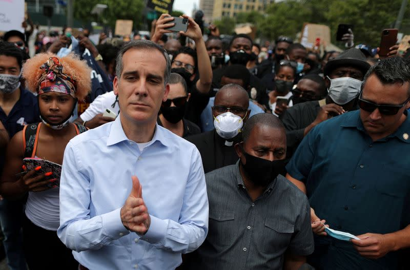 FILE PHOTO: Protest against the death in Minneapolis police custody of George Floyd, in Los Angeles