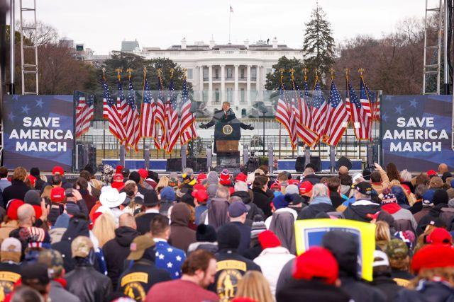 U.S. President Donald Trump holds a rally to contest the certification of the 2020 U.S. presidential election results by the U.S. Congress in Washington