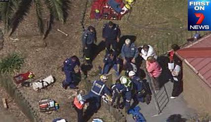 <p>Trapped school boy pulled to safety</p>