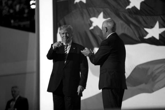 <p>Donald Trump and Gov. Mike Pence. (Photo: Khue Bui for Yahoo News)</p>