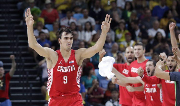 Dario Saric played well for the Croatian national team in the Olympics. (AP)