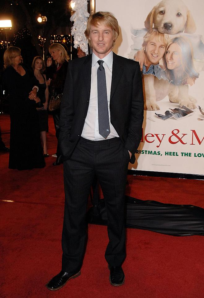 "<a href=""http://movies.yahoo.com/movie/contributor/1800019255"">Owen Wilson</a> at the Los Angeles premiere of <a href=""http://movies.yahoo.com/movie/1809995057/info"">Marley & Me</a> - 12/11/2008"