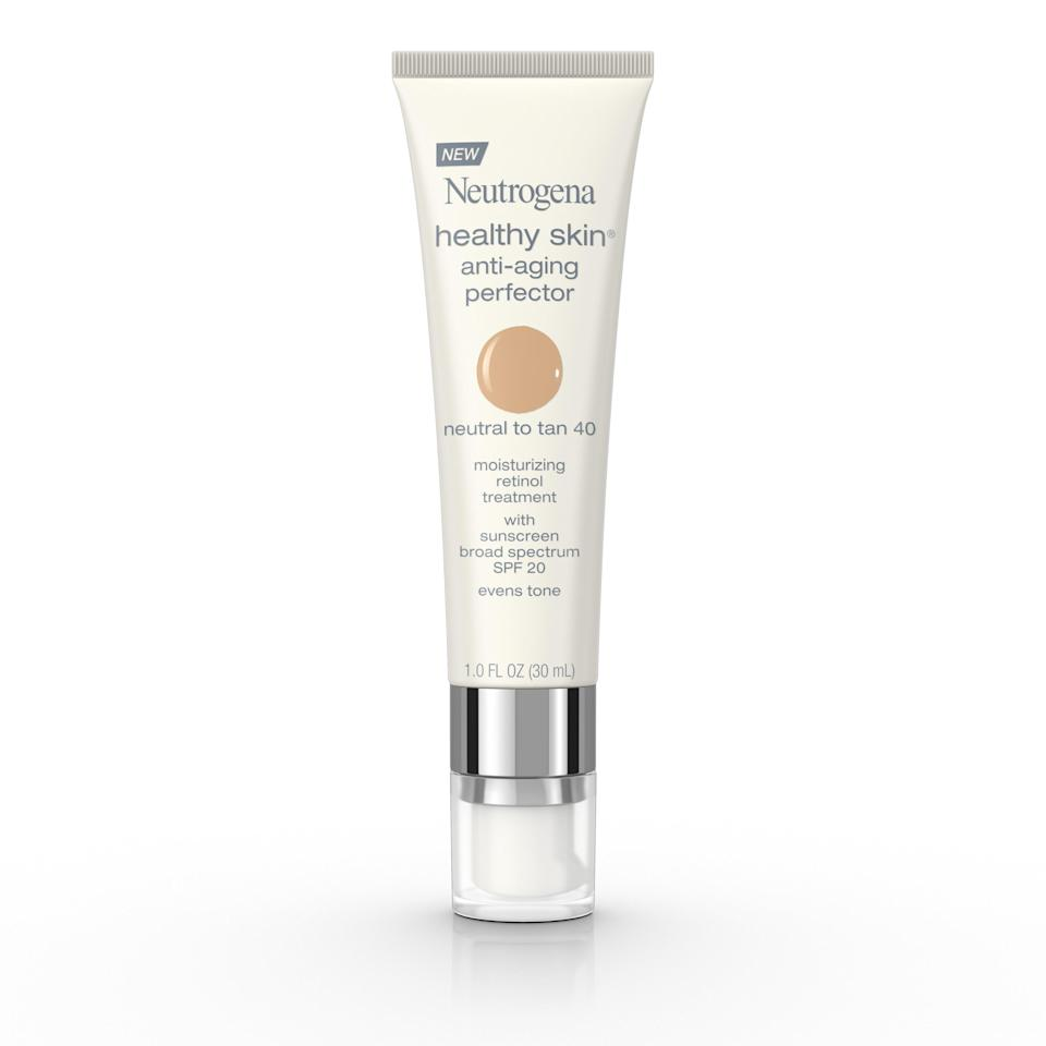 """<p><strong>Neutrogena</strong></p><p>walmart.com</p><p><strong>$11.13</strong></p><p><a href=""""https://go.redirectingat.com?id=74968X1596630&url=https%3A%2F%2Fwww.walmart.com%2Fip%2F48263943&sref=https%3A%2F%2Fwww.thepioneerwoman.com%2Fbeauty%2Fskin-makeup-nails%2Fg36969963%2Fbest-drugstore-tinted-moisturizer%2F"""" rel=""""nofollow noopener"""" target=""""_blank"""" data-ylk=""""slk:Shop Now"""" class=""""link rapid-noclick-resp"""">Shop Now</a></p><p>Although this Neutrogena pick works on all skin types, it's especially effective on more mature skin. The ultra-blendable tinted moisturizer doesn't settle in fine lines and smooths texture—it even includes retinol, which increases collagen protection to reduce wrinkles.</p>"""