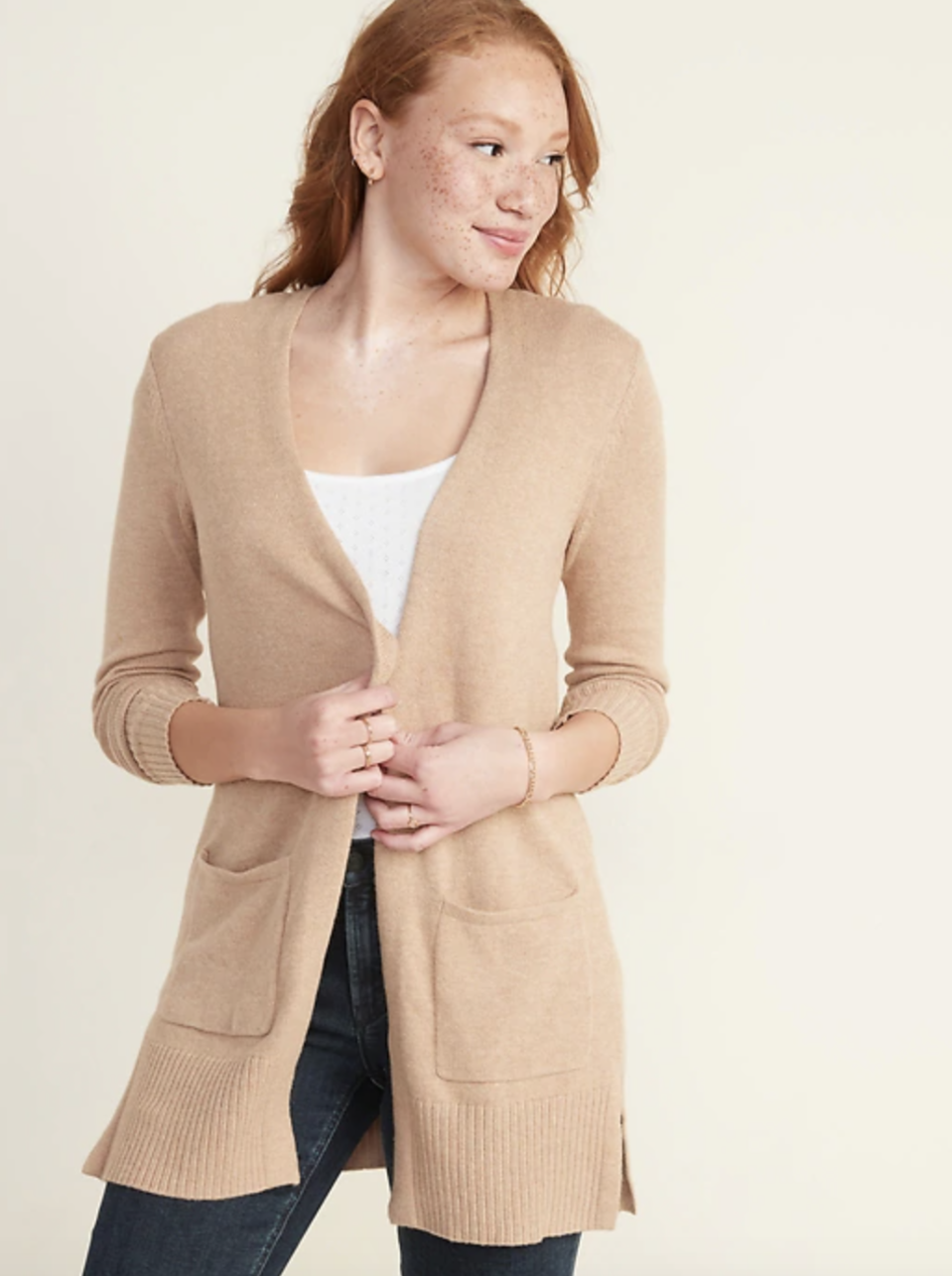 Long-Line Open-Front Sweater (Credit: Old Navy)
