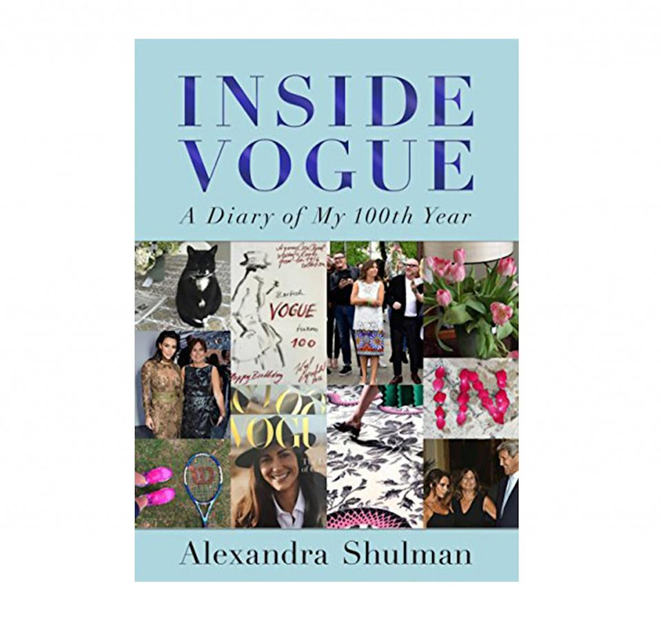 <p>This brand new book, available in both paperback and hardback, offers a rare glimpse into British Vogue editor Alexander Shulman's life. A diary covering the past year, the book details Shulman's thoughts and emotions as she navigated the fashion bible's 100th anniversary issue. </p>