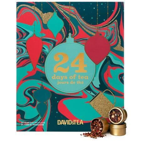 "<h3>David's Tea 24 Days Of Tea</h3><br>Canadian brand David's Tea has reprised its bestselling advent calendar this year with 24 festive blends sure to delight any tea snob. (Plus, there's even a <a href=""https://www.davidstea.com/us_en/tea/24-days-of-matcha/961416US01VAR0065415.html"" rel=""nofollow noopener"" target=""_blank"" data-ylk=""slk:matcha-themed one"" class=""link rapid-noclick-resp"">matcha-themed one</a> for all the green tea lovers out there.)<br><br><strong>David's Tea</strong> 24 Days of Tea, $, available at <a href=""https://go.skimresources.com/?id=30283X879131&url=https%3A%2F%2Fwww.davidstea.com%2Fus_en%2Ftea%2F24-days-of-tea%2F961414US01VAR0065413.html"" rel=""nofollow noopener"" target=""_blank"" data-ylk=""slk:David's Tea"" class=""link rapid-noclick-resp"">David's Tea</a><br><br><strong>David's Tea</strong> 24 Days of Matcha, $, available at <a href=""https://go.skimresources.com/?id=30283X879131&url=https%3A%2F%2Fwww.davidstea.com%2Fus_en%2Ftea%2F24-days-of-matcha%2F961416US01VAR0065415.html"" rel=""nofollow noopener"" target=""_blank"" data-ylk=""slk:David's Tea"" class=""link rapid-noclick-resp"">David's Tea</a>"