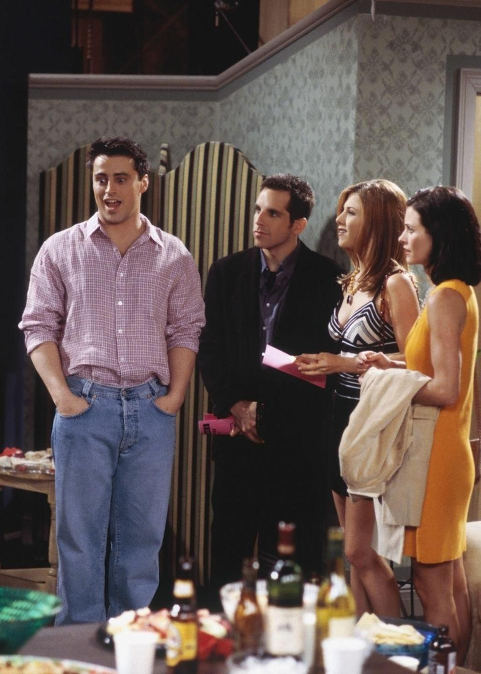 <p>Coincidentally, Ben Stiller appeared on the show during the same season as his future wife, Christine Taylor. The actor and comedian appeared as Tommy, Rachel's date who has anger management issues.</p>