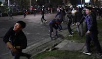 Opposition supporters took to the streets of Bishkev and called for the president to resign after disputed parliamentary elections