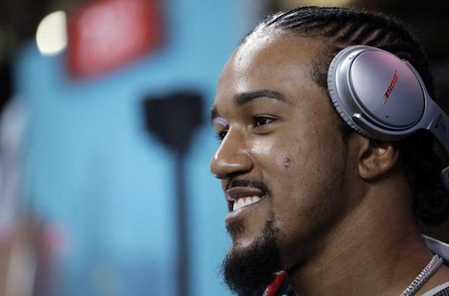 Vic Beasley Jr., in his second season, led the league in sacks with 15.5. (AP)