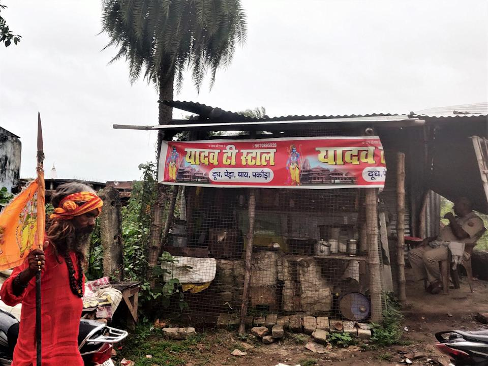 Brij Lal Yadav's Tea Stall - a tiny kiosk that has been there for the last 4 years