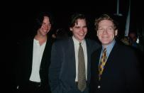 UNITED STATES - circa 1993: From left to right, actors Keanu Reeves, Robert Sean Leonard and Kenneth Branagh, the stars of the film 'Much Ado About Nothing'. (Photo by The LIFE Picture Collection via Getty Images)