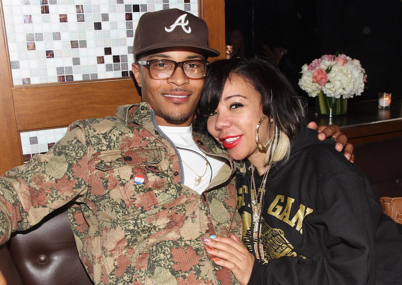"""<p>When they tied the knot, they did say for better or for worse. T.I. was arrested and jailed on a drug charge and <a rel=""""nofollow"""" href=""""http://abcnews.go.com/Entertainment/rapper-ti-sentenced-11-months-jail/story?id=11897544"""">violating terms of his probation</a>. Tiny remained by his side throughout the entire ordeal.</p>"""