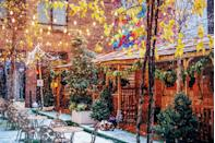 """<p>Get a taste of the French Alps in the transformed outdoor courtyard of the <a href=""""https://www.arlohotels.com/arlo-soho/"""" rel=""""nofollow noopener"""" target=""""_blank"""" data-ylk=""""slk:Arlo SoHo hotel"""" class=""""link rapid-noclick-resp"""">Arlo SoHo hotel</a>, where heated cedar cabins offer cozy hideaways to sip from a full menu of hot toddies like the Top of the Mountain Toddy made with whiskey, caramel, and apple cider, or the Chai Chalet Toddy with cognac, cranberry juice, and chai tea.</p><p><em>Open through March 15, 2020. 231 Hudson Street.</em></p>"""