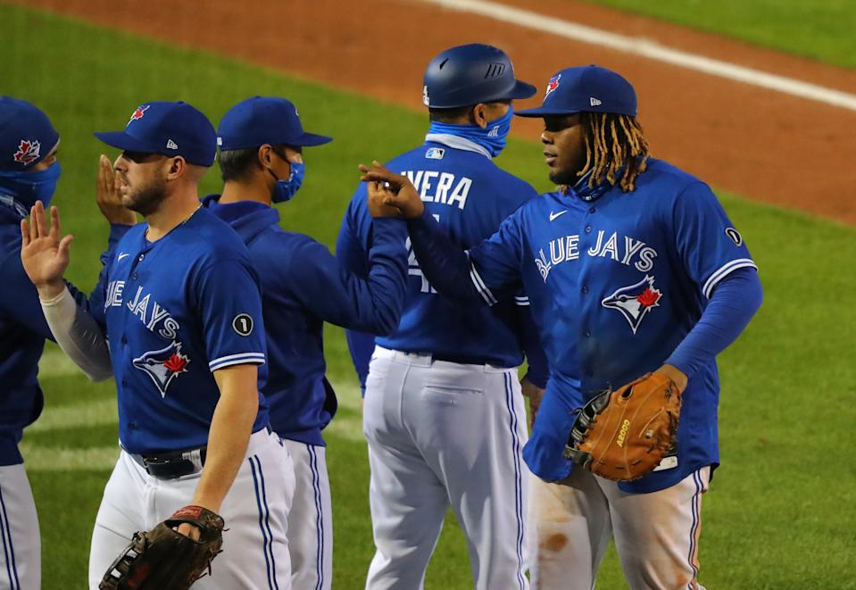 The young Toronto Blue Jays clinched a wild card berth in the MLB playoffs with a win Thursday night. (Photo by Timothy T Ludwig/Getty Images)