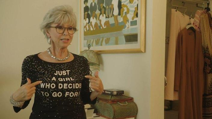 """EGOT winner Rita Moreno in the documentary """"Rita Moreno: Just a Girl Who Decided to Go For It."""""""