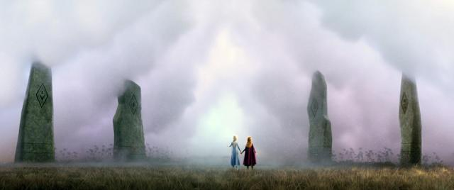 Elsa and Anna prepare to head into the unknown in <em>Frozen 2</em>. (Photo: Walt Disney Studios Motion Pictures / courtesy Everett Collection)