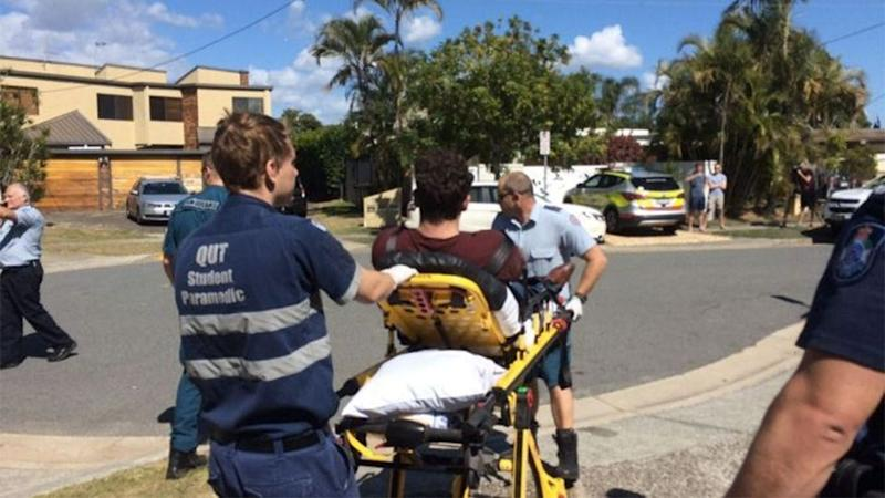 Seven men and one woman were taken to hospital after taking illicit drugs at separate parties. Photo: Queensland Ambulance