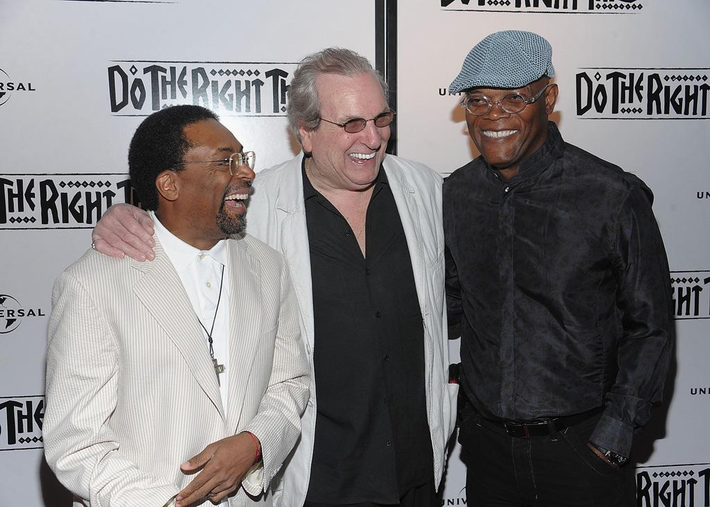 "<a href=""http://movies.yahoo.com/movie/contributor/1800019419"">Spike Lee</a>, <a href=""http://movies.yahoo.com/movie/contributor/1800047652"">Danny Aiello</a> and <a href=""http://movies.yahoo.com/movie/contributor/1800018848"">Samuel L. Jackson</a> at the 20th Anniversary screening of <a href=""http://movies.yahoo.com/movie/1800057997/info"">Do The Right Thing</a> - 06/29/2009"