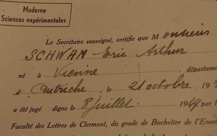 Very few documents exist about Eric Schwam's younger life