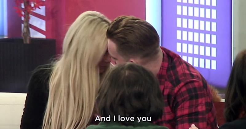 Nicola and fellow housemate Jamie O'Hara exchanged cuddles and kisses on Monday night (Copyright: REX/Shutterstock)