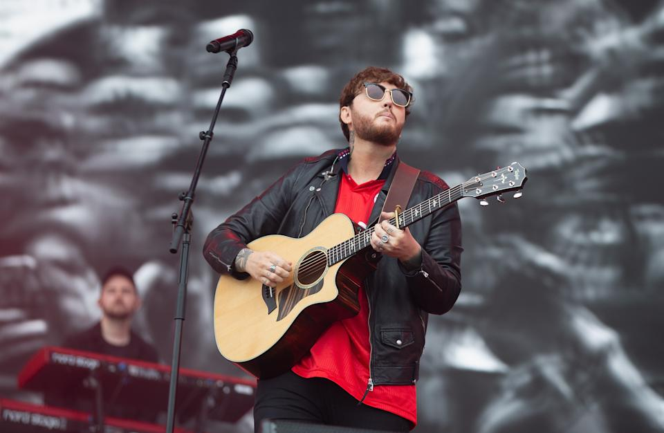 MIDDLESBROUGH, ENGLAND - MAY 25: James Arthur performs at the Radio 1 Big Weekend at Stewart Park on May 25, 2019 in Middlesbrough, England. (Photo by Jo Hale/Redferns)