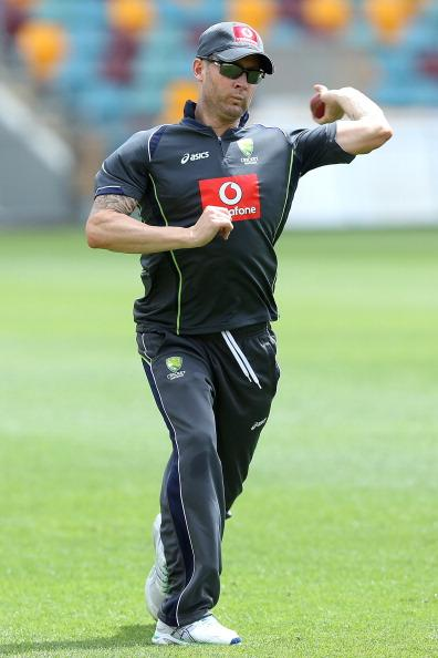 BRISBANE, AUSTRALIA - NOVEMBER 06:  Michael Clarke fields during an Australian nets session at The Gabba on November 6, 2012 in Brisbane, Australia.  (Photo by Chris Hyde/Getty Images)