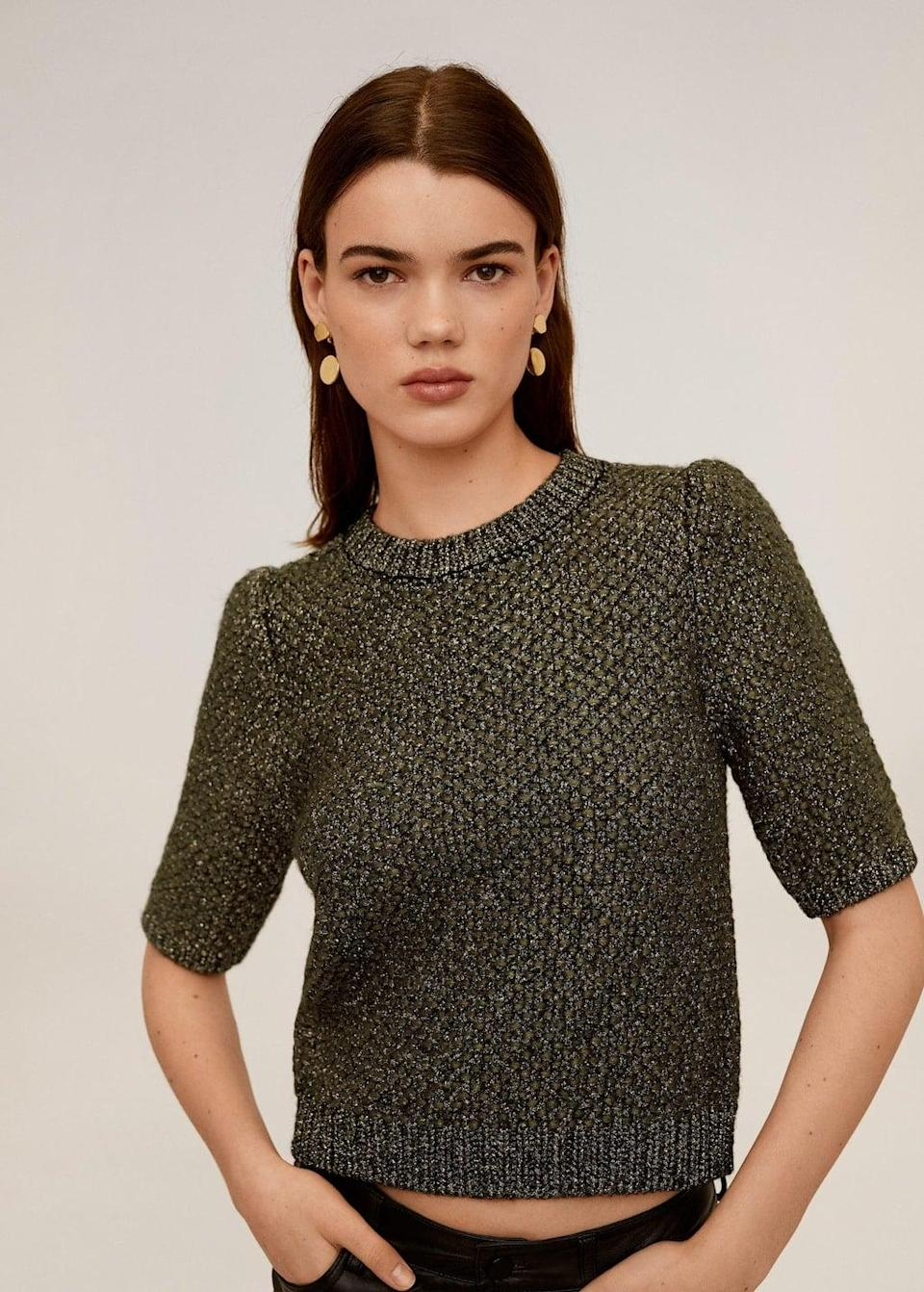 <p>This <span>Metal Thread Sweater</span> ($70) is great for a night out.</p>