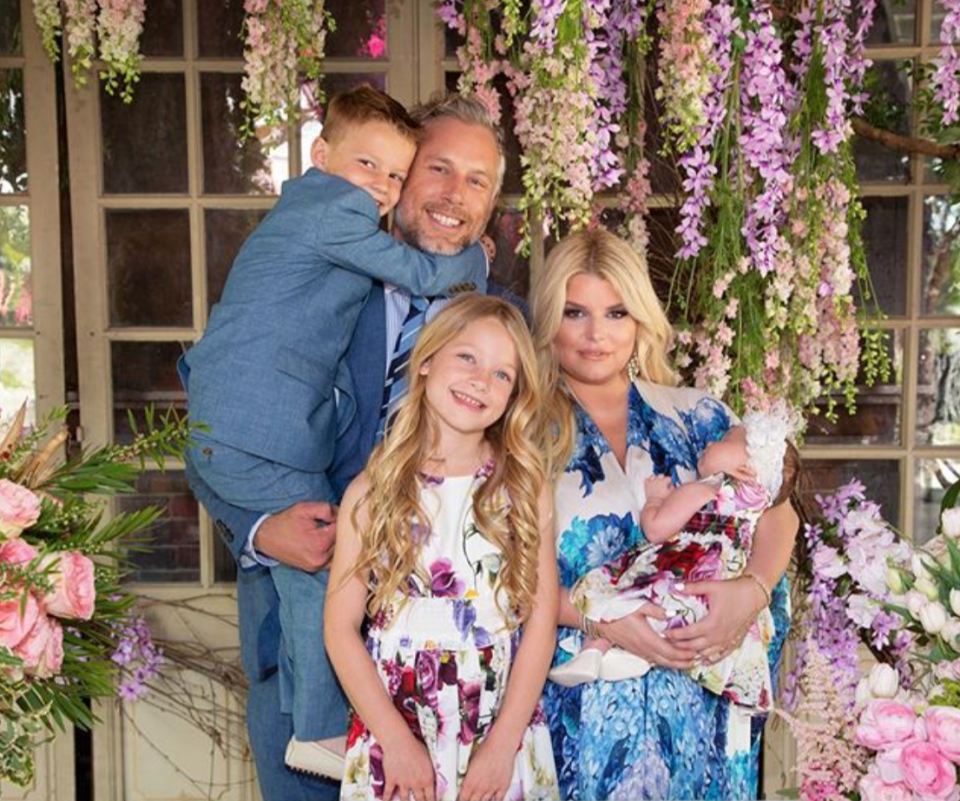 """<p><a href=""""https://people.com/tag/jessica-simpson/"""" rel=""""nofollow noopener"""" target=""""_blank"""" data-ylk=""""slk:Jessica Simpson"""" class=""""link rapid-noclick-resp"""">Jessica Simpson</a> adores her trio of children.</p> <p>""""Three is challenging. We are trying to get into the groove and make sure all three kids are getting equal attention … it's more than a full-time job right now,"""" Simpson <a href=""""https://people.com/parents/jessica-simpson-motherhood-full-time-job-daughter-birdie-photos-exclusive/"""" rel=""""nofollow noopener"""" target=""""_blank"""" data-ylk=""""slk:told PEOPLE"""" class=""""link rapid-noclick-resp"""">told PEOPLE</a> in 2019 of her and husband <a href=""""https://people.com/parents/jessica-simpson-enjoys-date-night-with-husband-eric-johnson-4-weeks-after-welcoming-daughter-birdie/"""" rel=""""nofollow noopener"""" target=""""_blank"""" data-ylk=""""slk:Eric Johnson"""" class=""""link rapid-noclick-resp"""">Eric Johnson</a>'s dynamic with their kids: daughters <a href=""""https://people.com/parents/jessica-simpson-welcomes-daughter-birdie-mae-eric-johnson/"""" rel=""""nofollow noopener"""" target=""""_blank"""" data-ylk=""""slk:Birdie Mae"""" class=""""link rapid-noclick-resp"""">Birdie Mae</a>, 2, and <a href=""""https://people.com/parents/jessica-simpson-daughter-maxwell-drew-born/"""" rel=""""nofollow noopener"""" target=""""_blank"""" data-ylk=""""slk:Maxwell """"Maxi"""" Drew"""" class=""""link rapid-noclick-resp"""">Maxwell """"Maxi"""" Drew</a>, 9, plus 7-year-old son <a href=""""https://people.com/parents/jessica-simpson-eric-johnson-welcome-son-ace-knute/"""" rel=""""nofollow noopener"""" target=""""_blank"""" data-ylk=""""slk:Ace Knute"""" class=""""link rapid-noclick-resp"""">Ace Knute</a>.</p> <p>In April, Simpson <a href=""""https://people.com/parents/jessica-simpson-parenting-kids-resilient-covid-pandemic-exclusive/"""" rel=""""nofollow noopener"""" target=""""_blank"""" data-ylk=""""slk:talked to PEOPLE"""" class=""""link rapid-noclick-resp"""">talked to PEOPLE </a>about how she's handling parenting in the pandemic with her three growing kids. </p> <p>""""I have also learned just about every project with tie-dye and slime [and] e"""