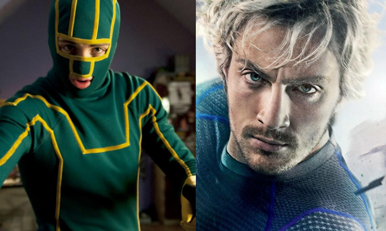 <p>Aaron Taylor-Johnson shot to fame as Dave Lizewski in the <em>Kick-Ass</em> movies but he also made a solid appearance as Quicksilver in <em>Age of Ultron</em>. Evan Peters plays the same character in Fox's X-Men franchise. </p>