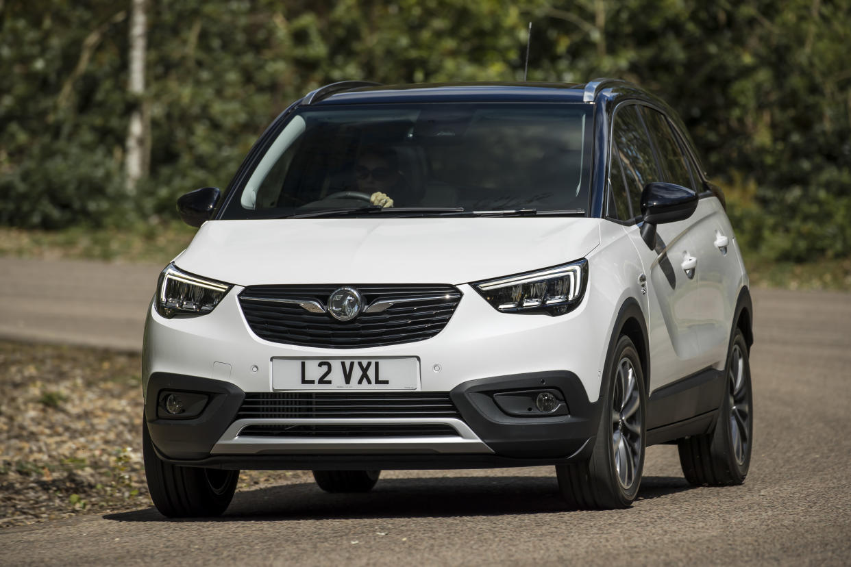 The Crossland X shares many styling cues with the large Grandland X