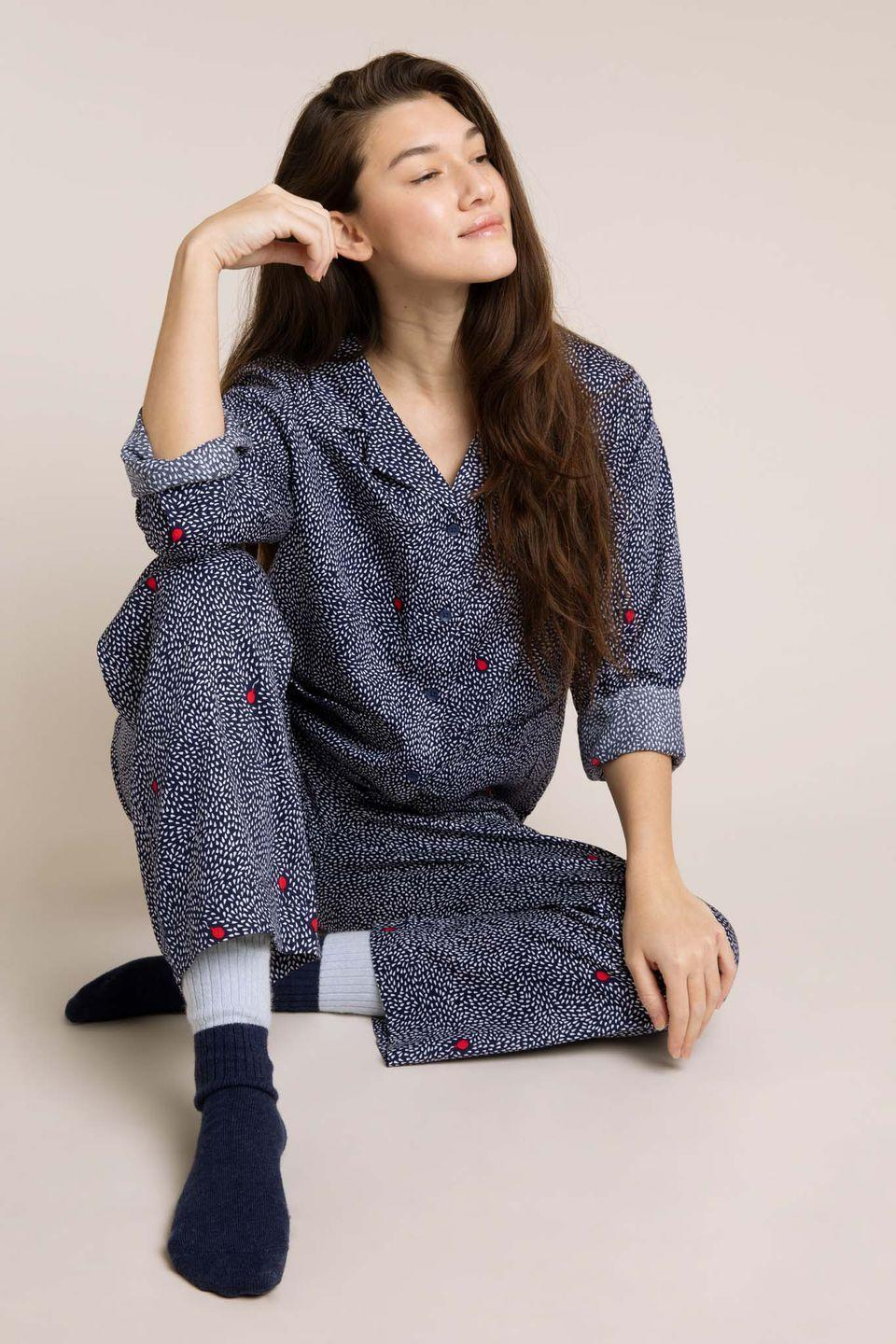 """<p><a class=""""link rapid-noclick-resp"""" href=""""https://www.loveyawn.com/"""" rel=""""nofollow noopener"""" target=""""_blank"""" data-ylk=""""slk:SHOP NOW"""">SHOP NOW</a></p><p>Yawn aims to create nightwear that feels like a hug, styles that encourage you to relax and unwind. Characterised by its hand-drawn prints and super comfortable materials, the label offers pyjamas, night dresses, night shirts and sleep socks. We're particular fans of the playful <a href=""""https://www.loveyawn.com/collections/bums-roses"""" rel=""""nofollow noopener"""" target=""""_blank"""" data-ylk=""""slk:bums and roses print,"""" class=""""link rapid-noclick-resp"""">bums and roses print,</a> inspired by the women's pond at Hampstead Heath.</p>"""